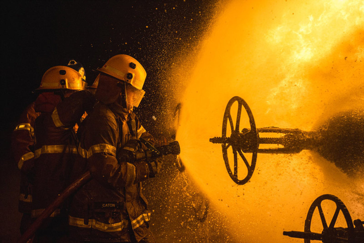 Christopher Chan image of fire fighters